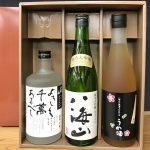 八海山お祝いギフト(八海山焼酎・純米大吟醸酒・梅酒)720ml